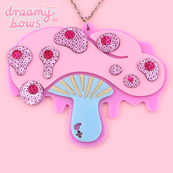 Lovely Desire Mushroom Sequin Necklace