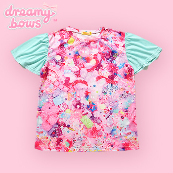 Clione Frill Sleeve Girls Daydream Tee - Mint