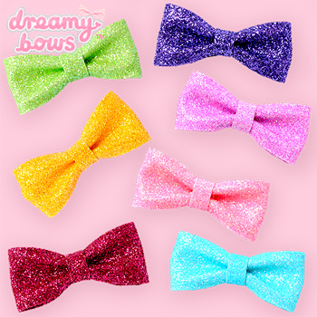 Mini Ribbon Sparkling Sugar Clip & Brooch