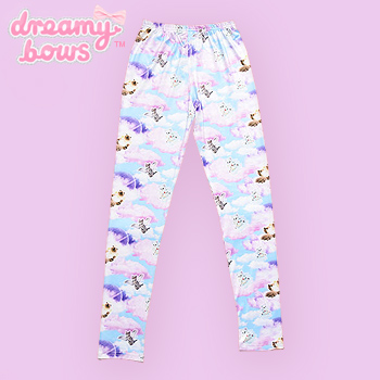 Angel Cat Cloud Leggings - Blue