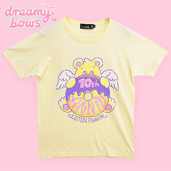Angel Donut Bear Anniversary T-Shirt - Yellow