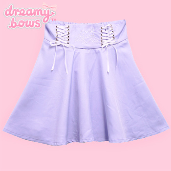Angel Heart Lace-Up Skirt - Lavender
