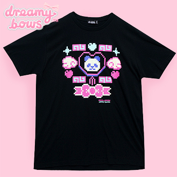 Apps & Beads Panda Big T-Shirt - Black