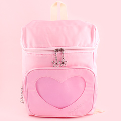 4b9def3d5516 Backpack with Transparent Heart Pocket - Pink. by Dreamy Bows