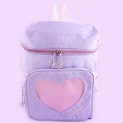 9e0c80df9216 Backpack with Transparent Heart Pocket - Lav. by Dreamy Bows