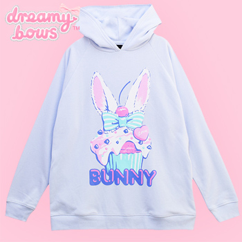 Bunny Cupcake Hooded Parka - Blue