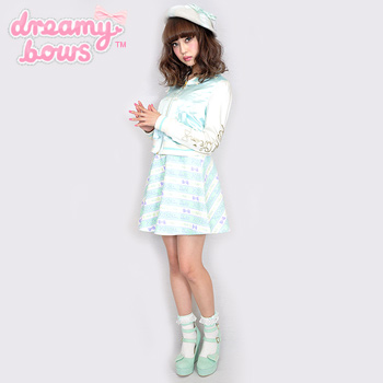 Candy Millefeuille Skirt - Mint