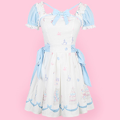 690696a70aa0 Blue   Pink Sweet Cake Rocking Horse Dress. by Candy Rain