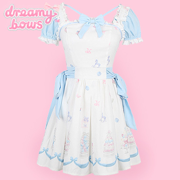 Blue & Pink Sweet Cake Rocking Horse Dress