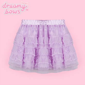Lavender Layered Tulle Rose Skirt