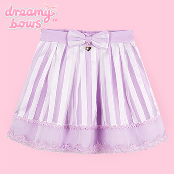 Lavender & White Striped Skirt with Bow