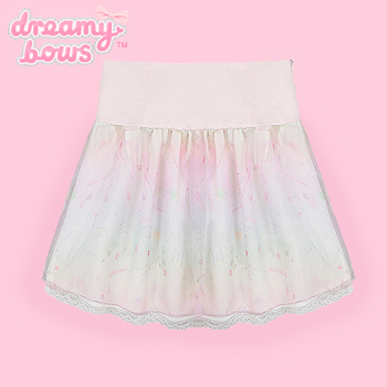Pink & Pastel Love Soda Chiffon Skirt