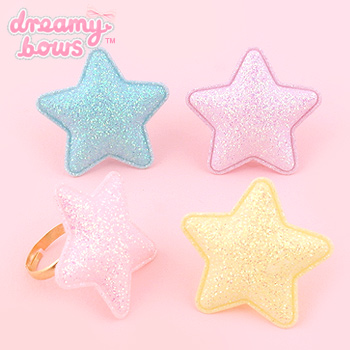 Milky Way Sparkly Padded Star Ring