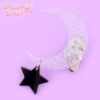 Moon & Star Plastic Dangly 2-Way Clip