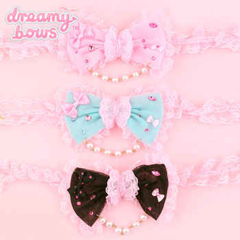 Tulle Deco Bow Pearl Choker