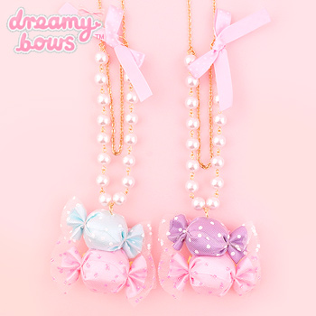 Tulle Candy Double Necklace