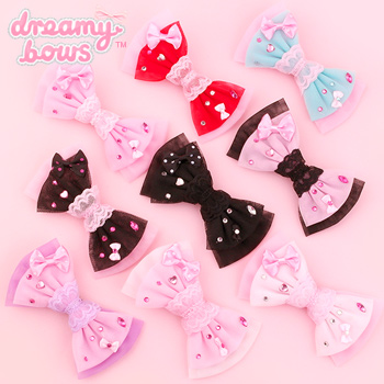 Tulle Deco Bow 2-Way Clip