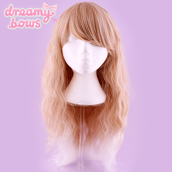 Long Crimped Gradient Wig - Blonde to White