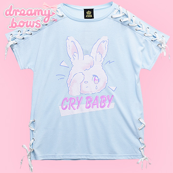 Cry Baby Rabbit Lace-Up Cutsew - Mint