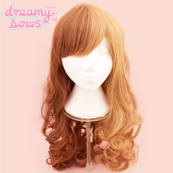 Curly Split Wig - Honey x Brown