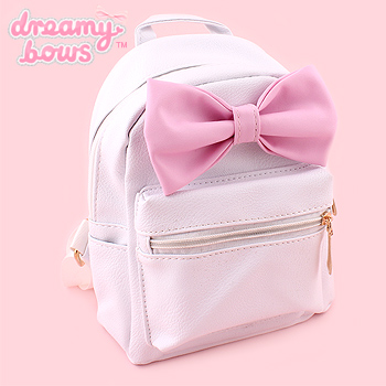 Cute Mini Bow Backpack - White