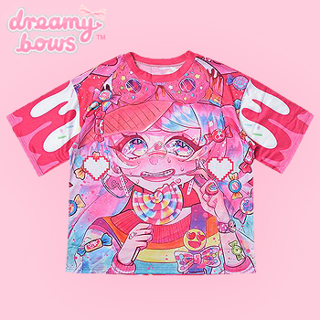 Crazy Sprinkle Candy Design Contest Cutsew - Hot Pink