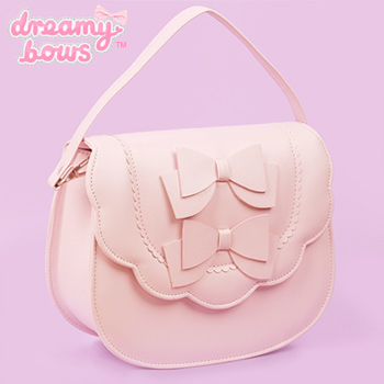 Double Bow Multi Strap Bag - Pink