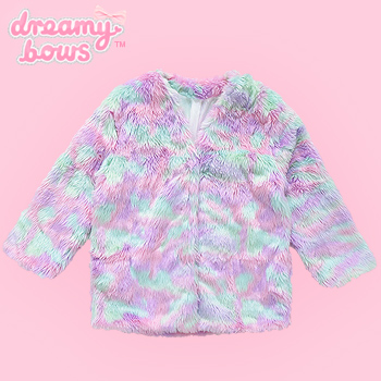 Eco Fur Fluffy Coat - Pinky Pastel