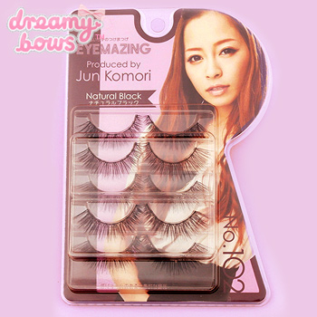 Jun Komori False Eyelash - 102 Black