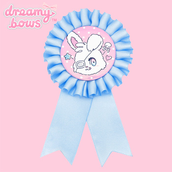 10th Anniversary Eyepatch Bunny Rosette - Blue