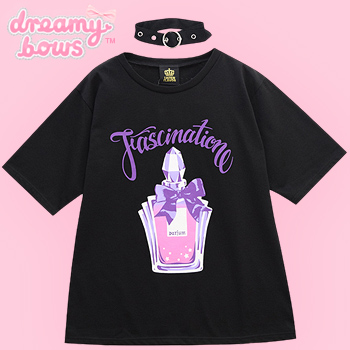 Fascination Perfume Cutsew with Choker - Black