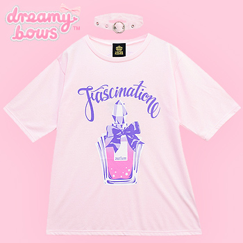 Fascination Perfume Cutsew with Choker - Pink