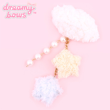 Fluffy Cloud Dangly 2-Way Clip