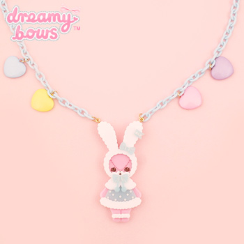 Fluffy Lyrical Bunny Necklace - Sax