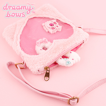 7aabc3075d43 Buy Dreamy Bows Fur Heart Window Small Shoulder Bag - Pink at Dreamy Bows