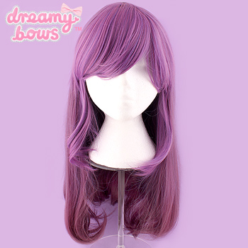 Gradient Long Straight Wig - Purple