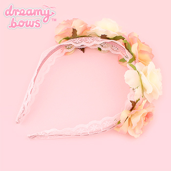 Hime Dreams Rose Crown Alice Band