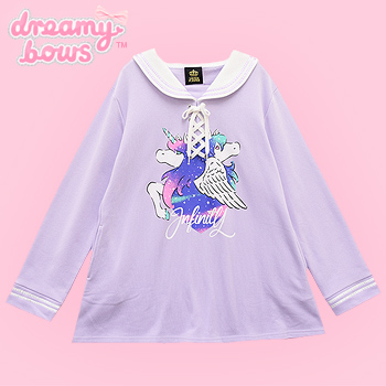 Infinity Starry Sky Unicorn Sailor Dress - Lav