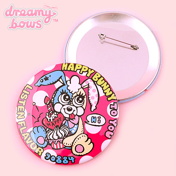 90884 Happy Bunny To You Badge