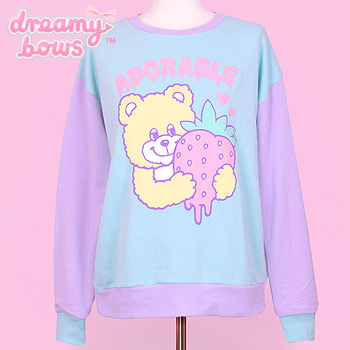 Adorable Bear Sweater - Mint