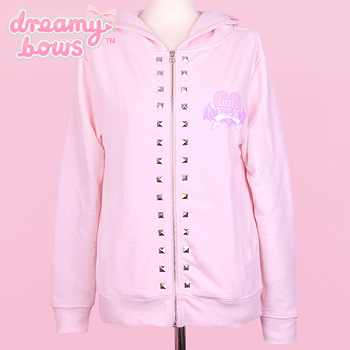 Flappin&#39 Wings Studded Hoodie - Pink