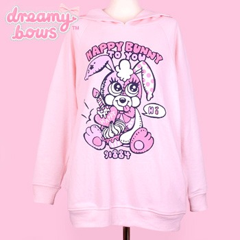 90884 Happy Bunny To You Hoodie - Pink