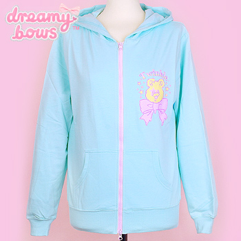 Twinkle Bear Hooded Jacket - Mint