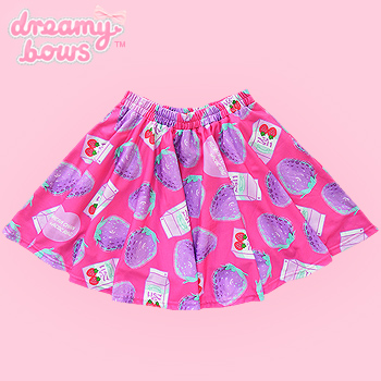 Menhera Chan Strawberry & Milk Montage Skirt