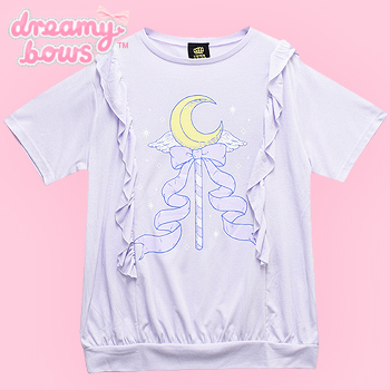 Magical Moon Stick Frill Cutsew Top - Lav