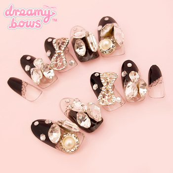 Midnight Bling Deco False Nail Set