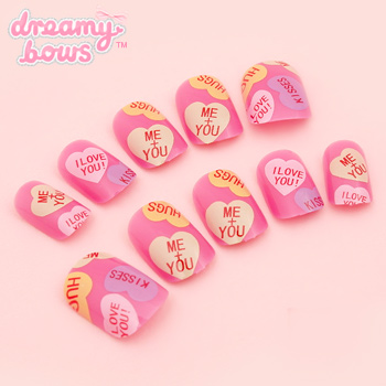 Candy Love Hearts False Nail Set