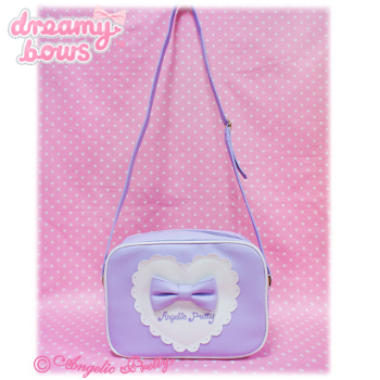 Outing Heart Square Shoulder Bag - Lavender