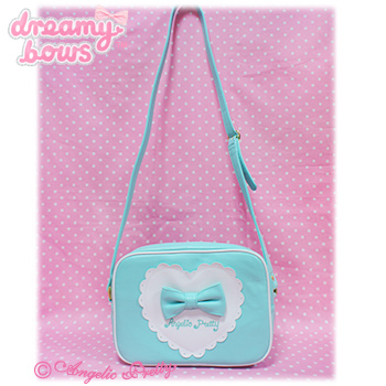 Outing Heart Square Shoulder Bag - Mint