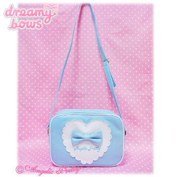 Outing Heart Square Shoulder Bag - Sax